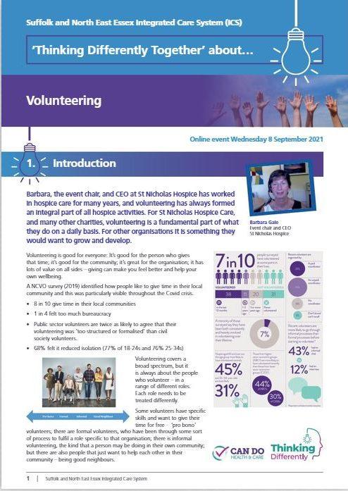 TDT Volunteering